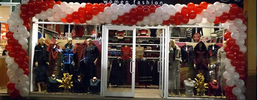 balon süsleme ile dükkan açılışı