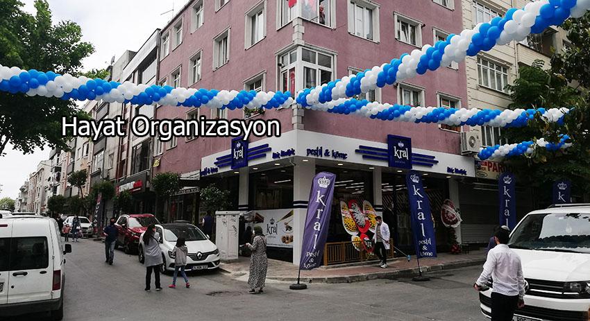 işyeri ve dükkan açılışı ile balon süsleme ve ses sistemi kiralama