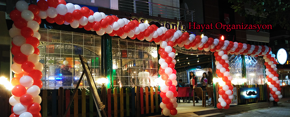 balonlarla açılış organizasyonu