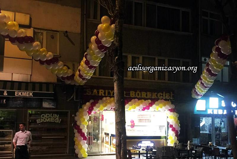 işyeri açılışı zincir balonlar