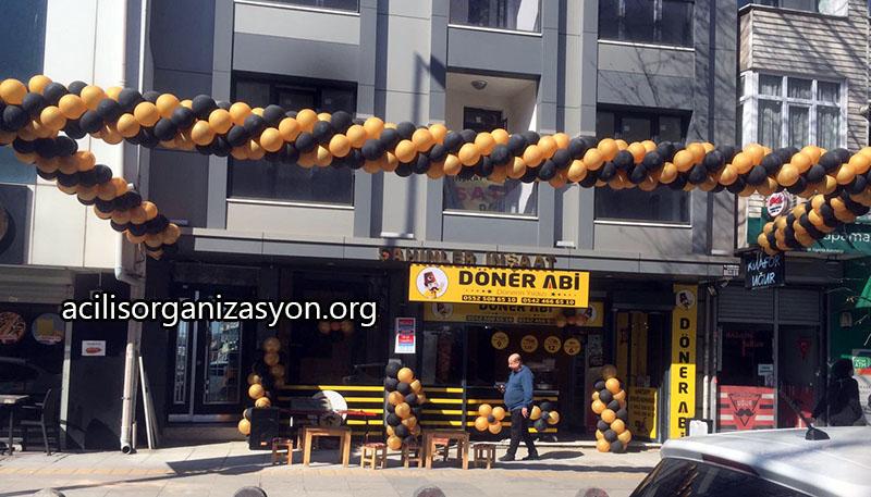 dükkan açılış balon süsleme organizasyonu