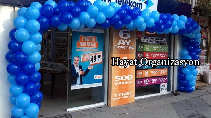 dükkan açılış programı zincir balonlar