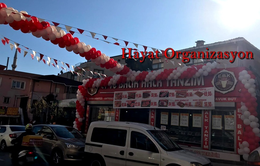 zincir balon süsleme ve açılış organizasyonu